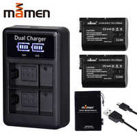 2 pièces EN-EL15 EN EL15 ENEL15 EL15A Batterie pour Appareil Photo Numérique + LCD Chargeur Double USB pour Nikon D810 D7000 d750 V1 D610 D600E D800E