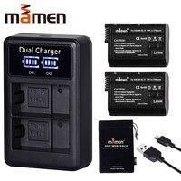 2Pcs EN EL15 EN EL15 ENEL15 EL15A Digital Camera Battery + LCD USB Dual Charger for Nikon D810 D7000 d750 V1 D610 D600E D800E