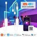 Диммер Tuya умный светодиодный ленточный светильник Contoller Wifi дистанционное управление подключение RGB LED управление ler работа с Alexa Google Assitant Smar