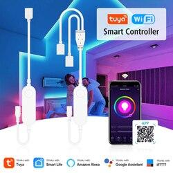 Tuya Smart Life LED Strip Light Contoller Wifi Remote Control USB 5V DC12V-24V RGB Led Controller Work With Alexa Echo Google