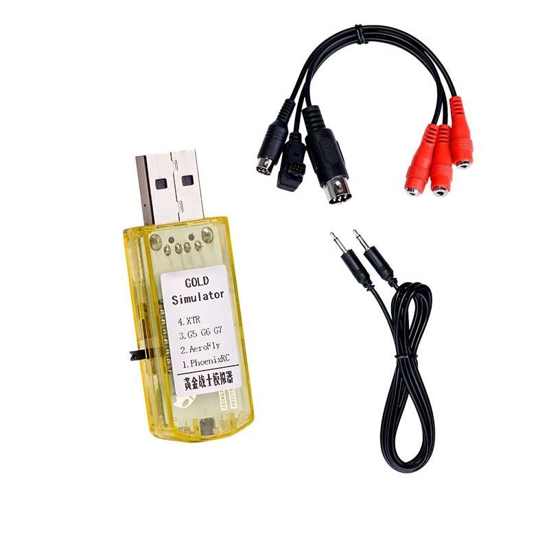 Actualizado 22 en 1 simulador 22in1 RC USB simulador de vuelo Cable soporte Realflight G7 Phoenix 5,0 serie AEROFLY FMS