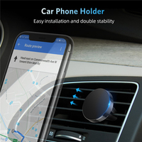 Suporte magnético universal do telefone do carro suporte no carro clipe de ventilação de ar montar nenhum suporte magnético do telefone móvel gps para o iphone 11 pro