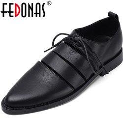 FEDONAS nueva llegada mujeres entrecruzadas zapatos para club nocturno tacones cuadrados Primavera Verano cuero genuino 2020 Zapatos elegantes para mujer