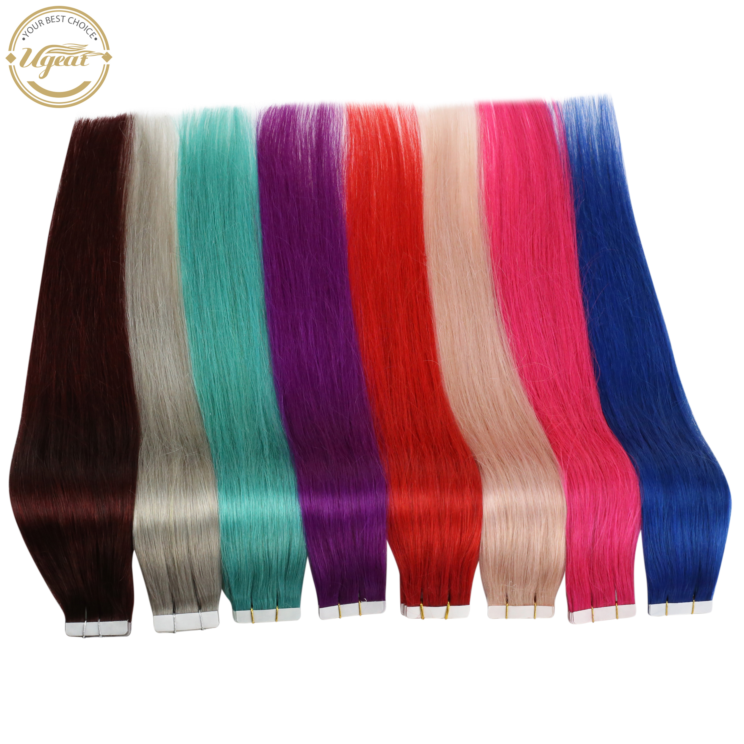 [Sale] Ugeat Tape In Hair Extension Real Human Hair 12-22