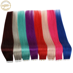 [Sale] Ugeat Tape in Hair Extension Real Human Hair 12-22 Machine Remy Hair Skin Weft Seamless Hair 10pc/20pc/40pc 1.5g/pcs