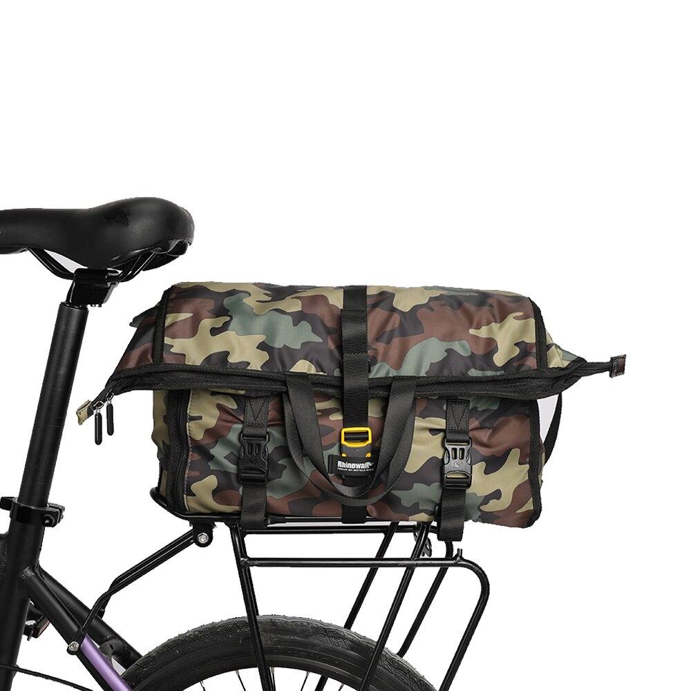 Купить с кэшбэком Rhinowalk 25L Multifunction Riding Messenger Bag for Riding Working Travel Business Trip Portable Pannier Bag Travel Cycling Bag