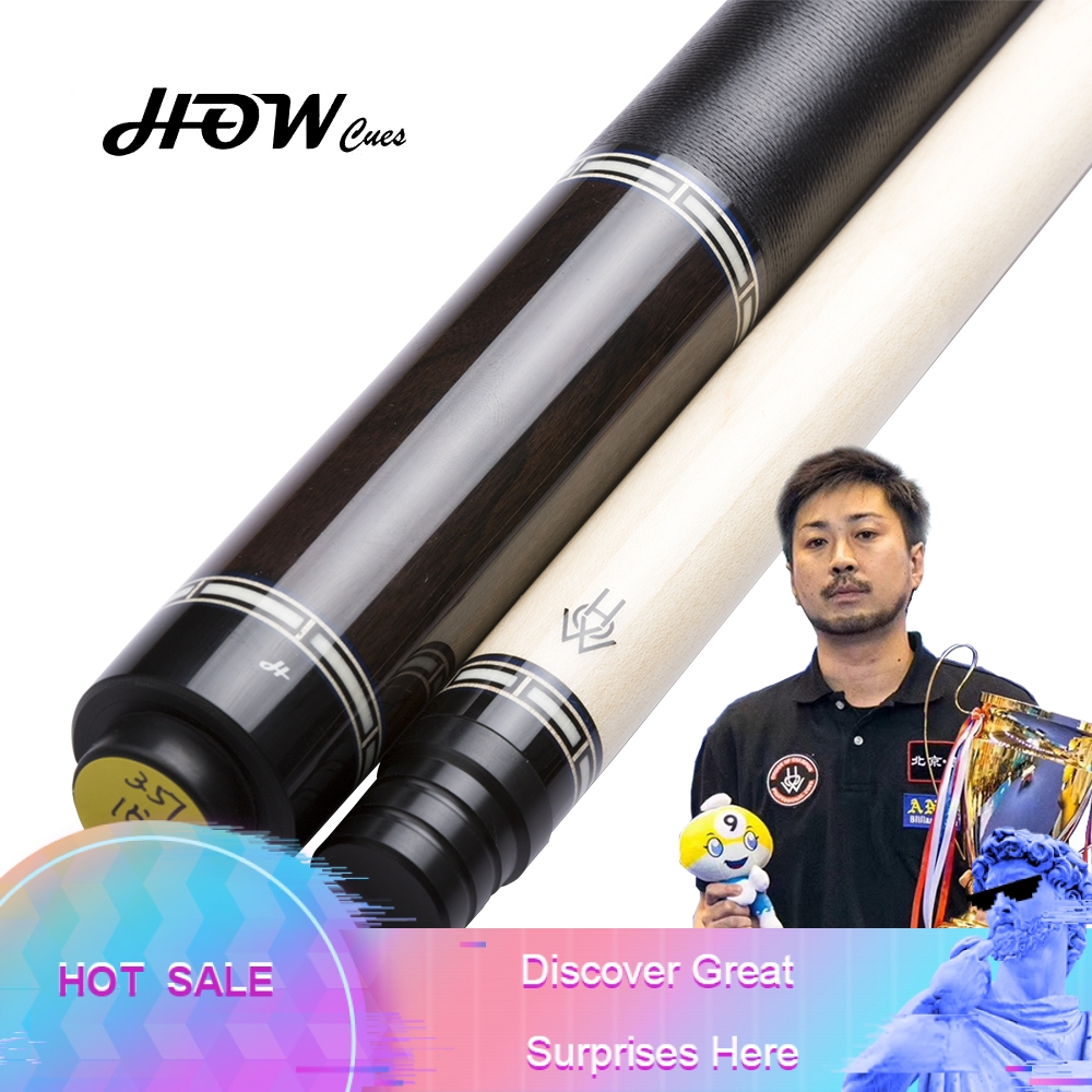 HOW FH 09 Original Pool Cue 100 Handmade Professional Black 8 Cue Billiard Pool Stick Genuine