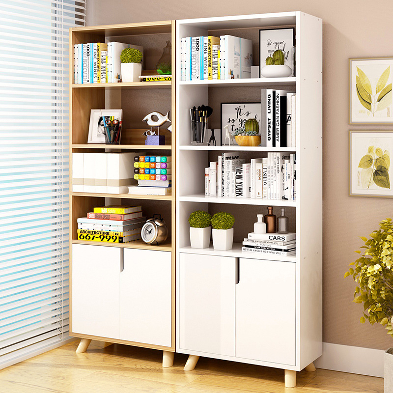 Floor-to-Ceiling Bookshelf Simplicity Students Bookcase Minimalist Modern Bay Window Storage Shelf Bookcase Multi-functional Cab