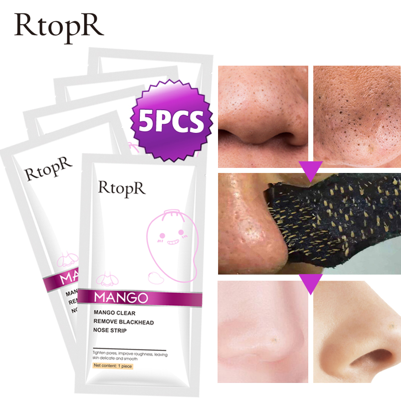 Blackhead Remover Nose Mask Pore Strip Peeling Acne Treatment Face Mask control Skin Care 5pcs lot