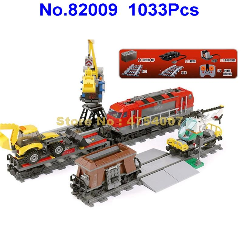 1033pcs city engineering remote control rc train electric building block  60098 Toy Christmas Shop 2019