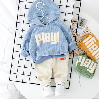 цена на 2020 Spring Baby Casual Tracksuit Children Boy Girl Cotton Hoodies Pants 2Pcs/Sets Kids Leisure Causal Suit Infant Clothing Set