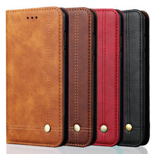 Realme X2 XT Premium Leather Case Luxury Solid Flip Cover for Oppo Rea