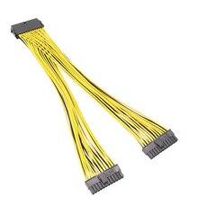 24Pin ATX PSU Y Cáp 24 Pin Bộ Chia Cáp Nguồn cho Kép ATX Bo Mạch Chủ