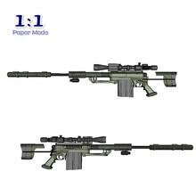 1:1 M200 Sniper Rifle Paper Model Gun Not Shooting DIY 3D Paper Card Model Building Sets Construction Toys Military Model