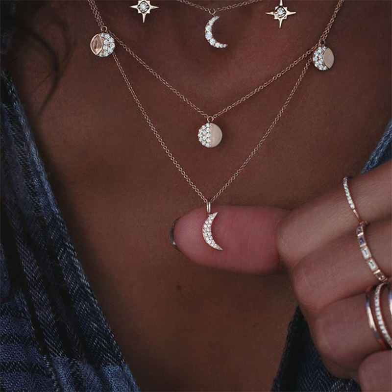Ladies Vintag Crystal Long Tassel Necklace Sweater Pendant Elegant Gifts Jewelry