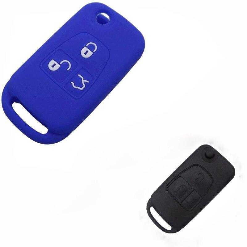 Silica Gel Key Cover For Mercedes Benz ML W 163 C CL S SL SEL Uncut Blank Car Key Cover Case Fob Flip Key Case For Benz W140 97