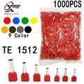 1000 unids/pack TE 1512 aislado virolas Terminal doble bloque de Terminal cobre aislado terminal crimpado cables 2x1! 5mm2