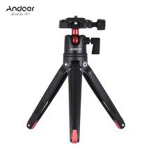 Andoer Mini el seyahat masa Tripod topu kafa ile standı Canon Nikon Sony için Huawei Smartphone için DSLR GoPro