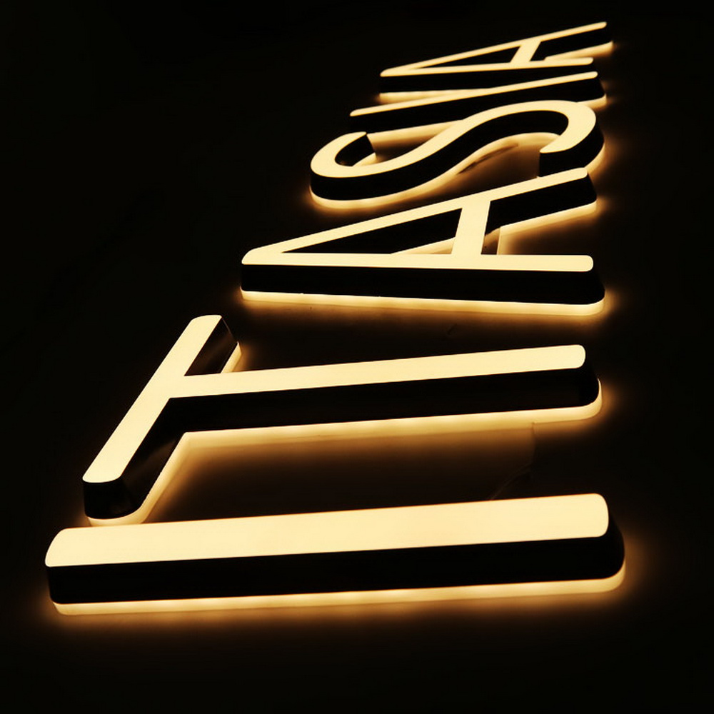 Double Sides Lighted Solid Acrylic Cut Led Letter Sign Mini Waterpoof Acrylic Illuminate Sign For Freely Customized