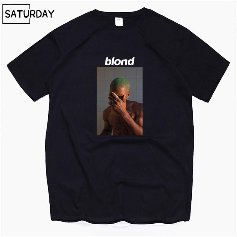 Men's Frank Ocean Blond Blonde Hip Hop Rap T Shirt T-Shirt Unisex 100% Cotton Tshirt Homme Singer Harajuku Shirt,