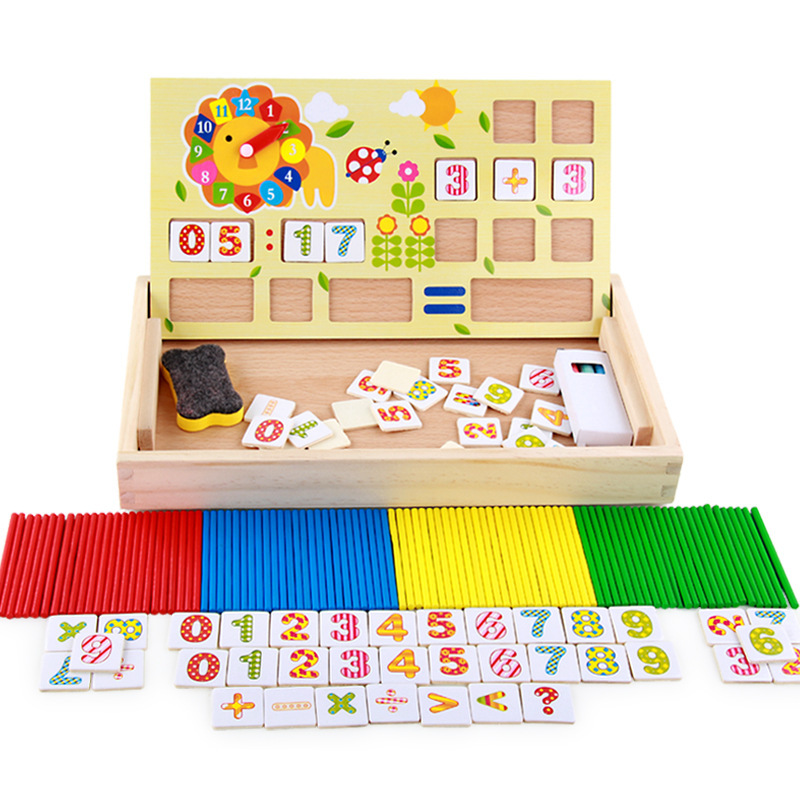 Children With Numbers Multi-functional Educational Toy Wood Mathematics Counting Sticks Computing Kindergarten Early Teaching Ai