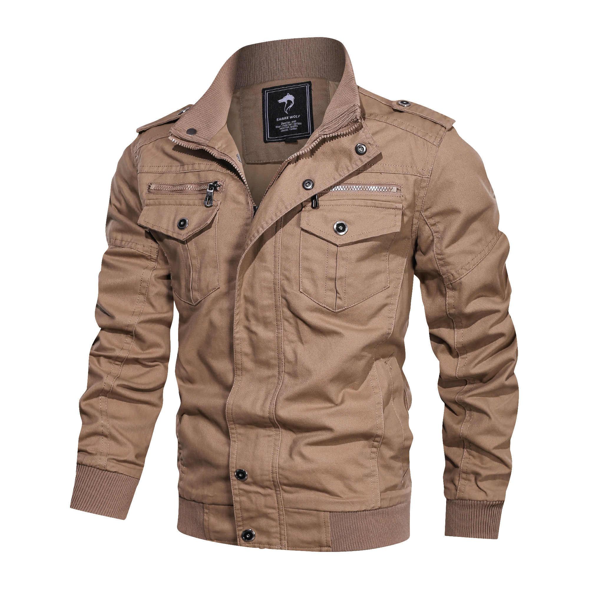 Bombacı ceket erkekler askeri giyim 2019 rahat sonbahar kış ceket erkekler artı boyutu L-5XL ordu taktik ceketler chaqueta hombre