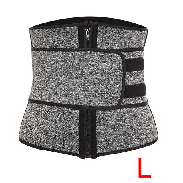 Women Slimming Waist Trainer Cincher Corset Trimmer Belt Workout Sweat Body Shaping Zipper Adjustable Weight Loss Sports 4