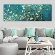 Van gogh flor de amêndoa flores pinturas em tela reproduções mundialmente famosas obras de arte por van gogh arte da parede imagem da parede casa decoração