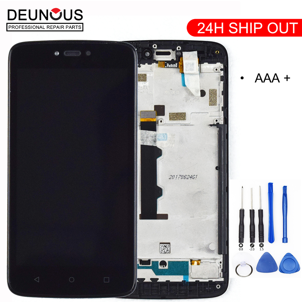New For Motorola Moto C XT1754 XT1757 XT1755 XT1756 XT1758 XT1750 LCD Display Touch Screen Digitizer Frame Assembly