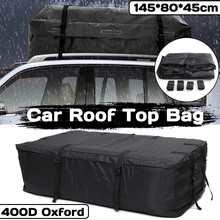 145x80x45cm à prova dwaterproof água carro telhado superior transportadora carga bagagem viagem saco de armazenamento para veículos com trilhos de telhado