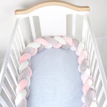 150 см детская кровать бампер детская подушка бампер три витые детские кроватки забор Хлопок Подушка Детская комната постельные принадлежности украшения