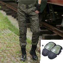 Военные тактические брюки мужские камуфляжные Панталоны лягушка брюки карго наколенники рабочие брюки армейские охотники спецназ боевые брюки