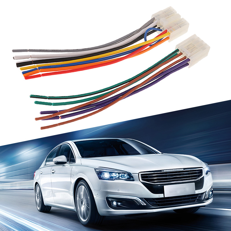 Image 4 - 1 Set 10 Pin+ 6 Pin  Car Stereo Radio Player ISO Wiring Harness Connector For Toyota Car Stereo 6.3 Inch EIA Color Code-in Cables, Adapters & Sockets from Automobiles & Motorcycles