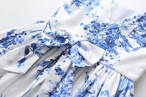 Image 5 - فستان سترة للبنات من LOVE DD & MM موضة 2020 ملابس أطفال جديدة للبنات مطرز بثلاثة أبعاد فستان سترة مطبوع عليه شجرة زرقاء
