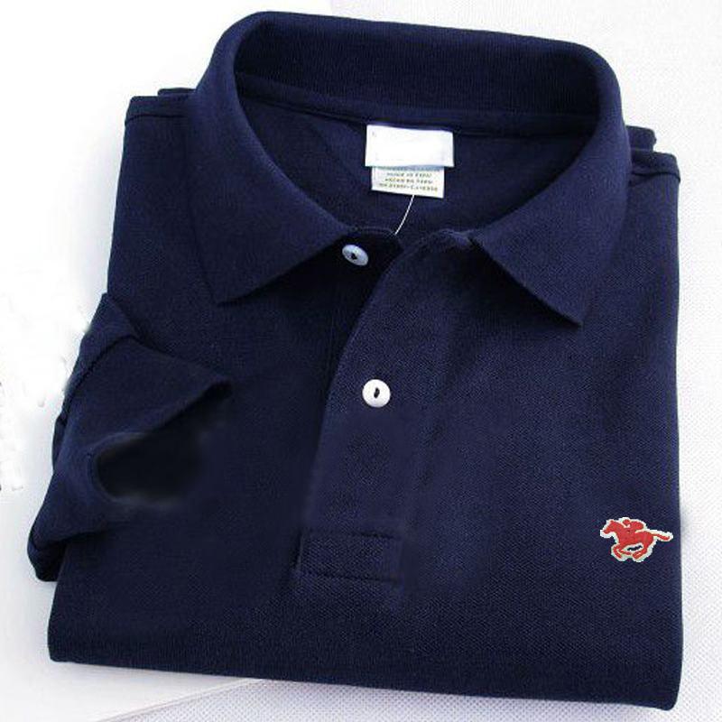 XS-4XL 100% Cotton Autumn Men's   polos   shirts casual long sleeve small horse embroidery mens   polos   shirts fashion mens shirs