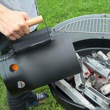 Fogo starter balde rápido carvão carbono barril de ignição fogão aço inoxidável churrasco rack ferramentas acessório cozinha ao ar livre churrasco