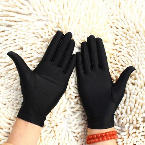 1 Pair High Elasticity Spandex Gloves White/Black/Red/Grey/Purple/ Unisex Short Gloves Sunscreen Etiquette Dance Jewelery Glove Lahore