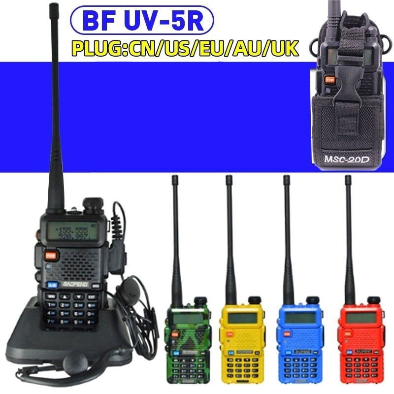 Baofeng UV-5R Walkie Talkie Two Way Communicator Transceiver FM UV5r VHF UHF Portable Walkie Talkie Hunting CB Ham Radio Station image