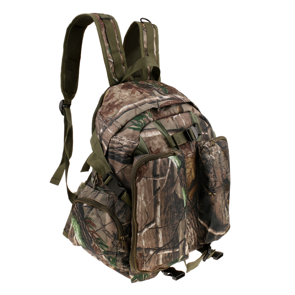 Hunting Hiking Molle Backpack Bow Archery Carry Bag Rucksack Pack Camouflage image