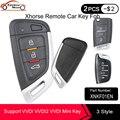 Универсальный Бесконтактный смарт-ключ KEYECU XHORSE XNKF01EN XSMQB1EN XSCS00EN для VVDI VVDI2 мини-ключ инструмент английская версия
