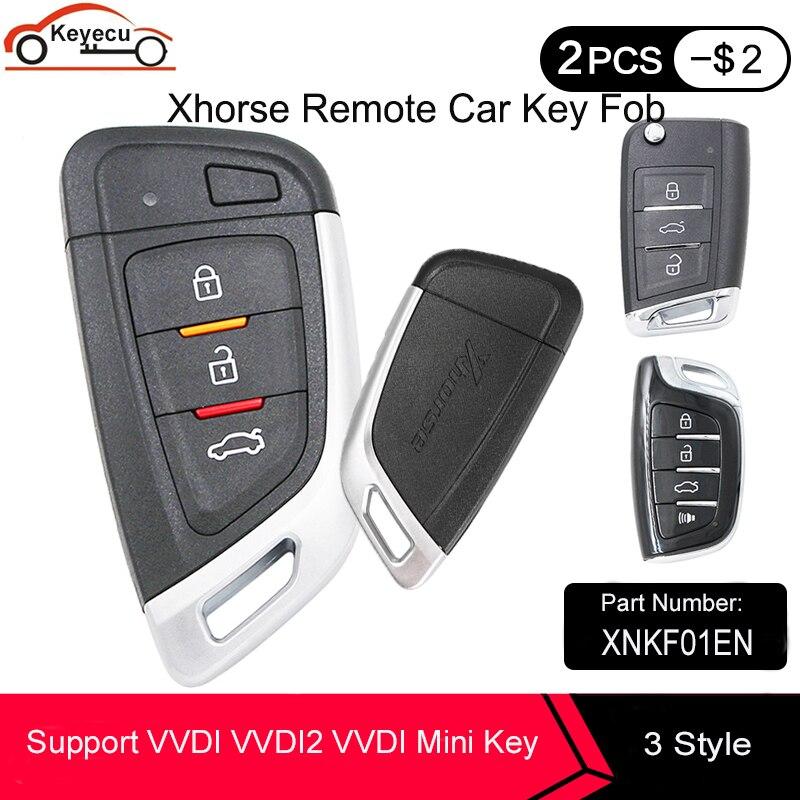 KEYECU XHORSE Универсальный Бесконтактный умный дистанционный ключ XNKF01EN XSMQB1EN XSCS00EN для VVDI VVDI2 VVDI мини ключ инструмент английская версия