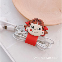 1pc Cartoon Cable Protector Data Line Cord Protector Protective Case Cable Winder(China)