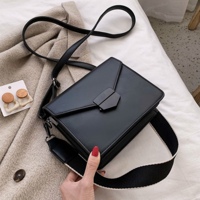 Women's Handbags Crossbody Bags Female New Leather Strap Flap Solid Zipper Ladies Fashion Messenger Shoulder Bags Casual Totes