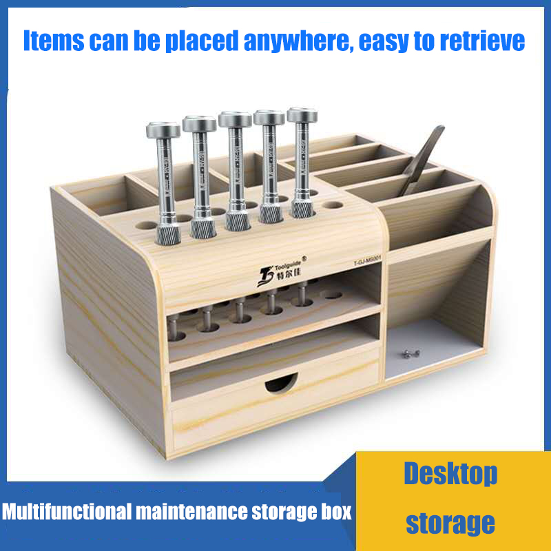 Rotatable L-Wrenches//Screwdrivers//Tweezers Storage Stand Box Holder