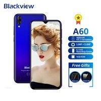 Смартфон Blackview A60 4080 мАч Android 8,1 13MP двойная задняя камера мобильный телефон MT6580A четырехъядерный 6,1
