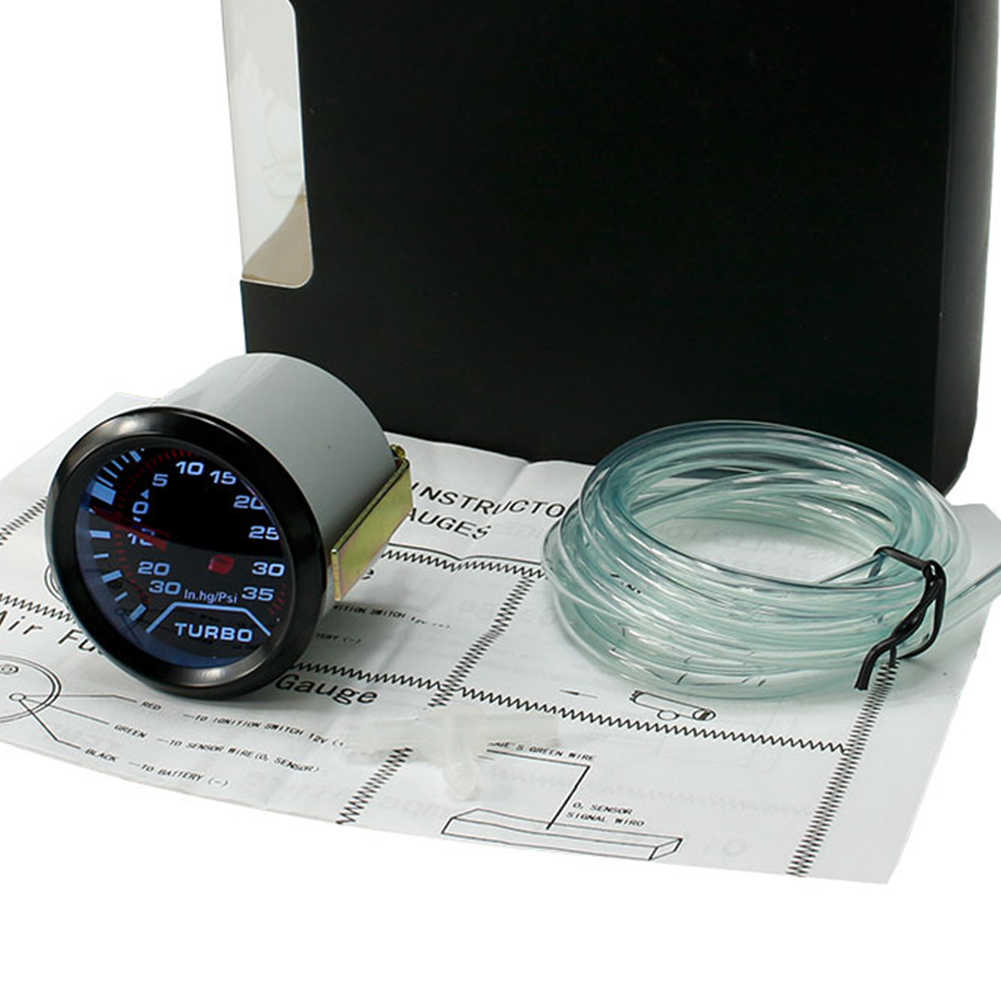 2 Inci 52 Mm Universal Mobil Auto LED Turbo Boost Pengukur Vakum Tekan Pengukur Asap Cepat Wajah Psi