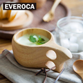 Финская чайная кружка Kuksa  деревянная портативная кофейная кружка с ручка из резины и дерева двумя отверстиями из коровьей кожи с крючком  б...