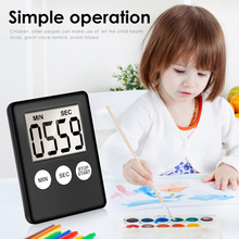 8 Colors Super Thin LCD Digital Screen Kitchen Timer Square Cooking Count Up Countdown Alarm Sleep Stopwatch Clock dropship