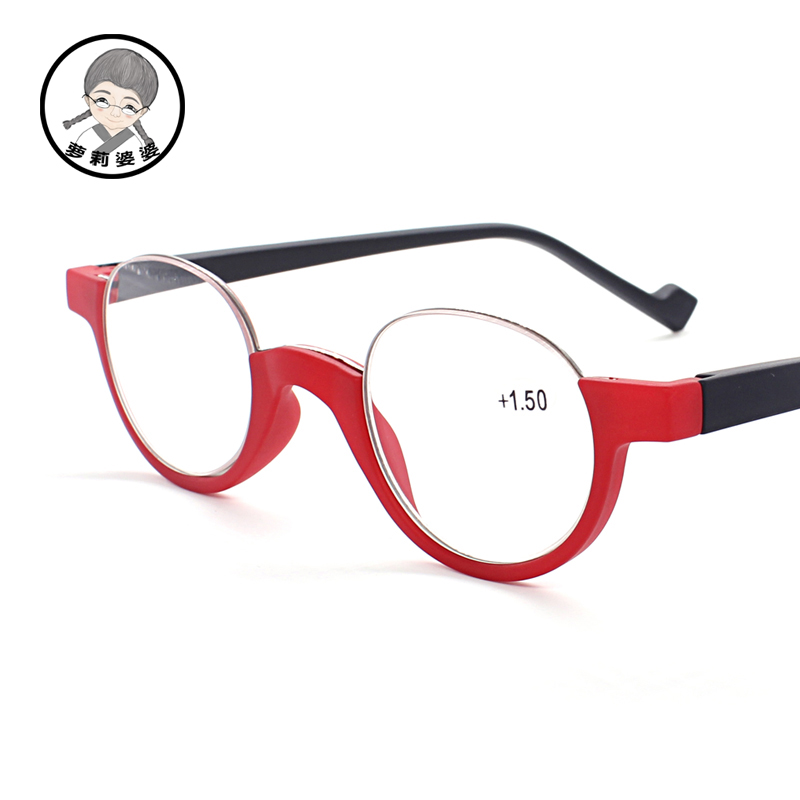 2.0 reader reading glasses womens round frame glasses prescription glasses spring hinges frame 1.0 1.5 2.5 3.0 3.5 4.0