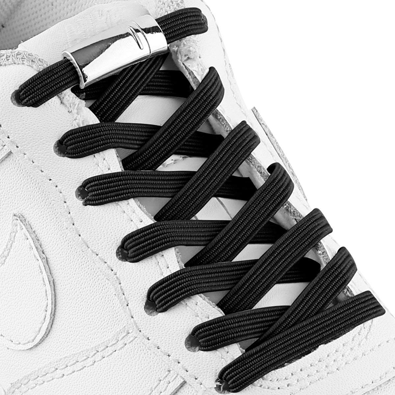 1 Pair No Tie Shoe Laces Magnetic Shoelaces Elastic Kids Adult Unisex Quick Locking Flat Shoe Lace Leisure Sneakers Lazy Laces